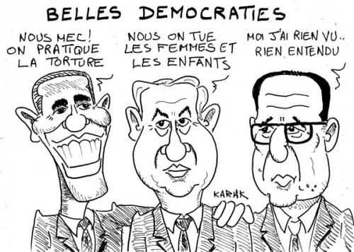 karak,dessin,obama,gaza,israel,hollande,lunettes,massacres,torture,civils,palestiniens