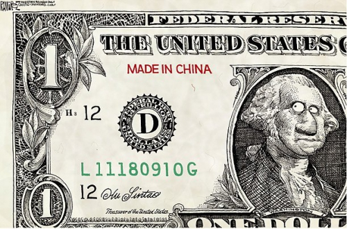 chine,dollar,chute