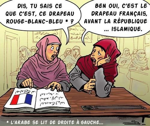 islam,france,drapeau,republique,islamique,charia,voile