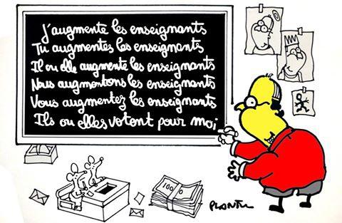 plantu,dessin,enseignants,salaire,hollande,clientélisme