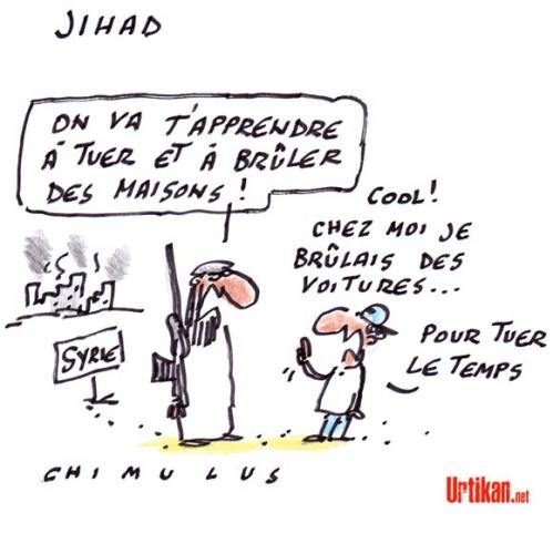 dessin,chimulus,syrie,djihadistes,francais,racailles,islam de france