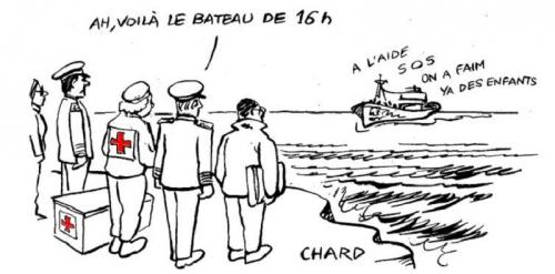 chard,dessin,migrants,bateaux,clandestins,envahisseurs,immigrationnisme,complicité