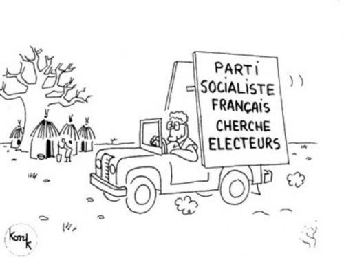 konk,dessin,ps,parti socialiste,immigration,immigrés,africains,vote,electeurs,clientelisme,gauche,immigrationniste