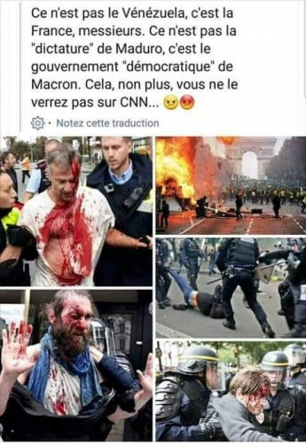 gilets,jaunes,repression,police,macron,castaner,violence,venezuela